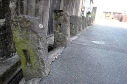 旧柳河藩と旧久留米藩の藩境を示す石柱